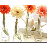 透明玻璃锥形收口小花瓶桌面创意摆件个性水培花瓶插花迷你装饰瓶