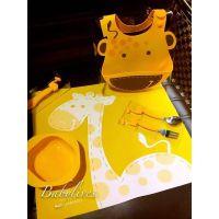 加拿大Marcus&marcus婴幼儿硅胶餐具、餐垫宝宝餐垫、动物餐垫、儿童围兜