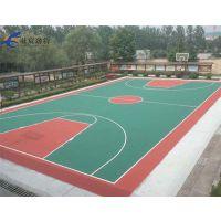 中山村委社区公园羽毛球场施工壮宸户外篮球场地坪工程材料厂家