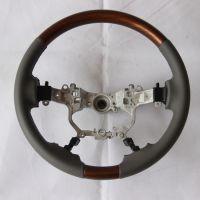 适用于16款兰德酷路泽 LC200桃木方向盘方向盘桃木改装方向盘桃木内饰