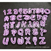 新款迪士尼36pcs字母数字塑料饼干模具 翻糖蛋糕装饰工具烘焙批发