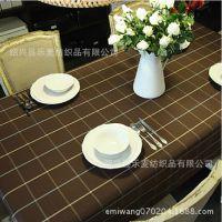 防水色织咖啡桌布不褪色格子不变形,桌布沙发布料,厂家来样定制