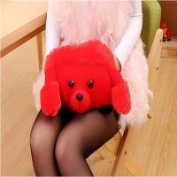 豪华新款卡通大红色狗充电双插手防爆热水袋/暖手宝 电暖袋批发