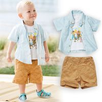 2015-XZ025茜吉可可爆款 男童T衬衣童套装3件套 一手货源