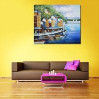 现代风格家居客厅纯手绘威尼斯艺术装饰油画