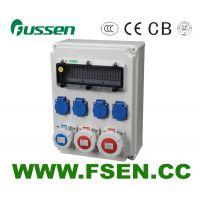富森供应工业插座检修箱 户外防水配电箱 220V63A5P多功能插座电源控制箱