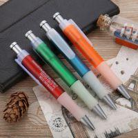 免费设计LOGO 笔海多彩色笔壳圆珠笔 塑料广告笔 按动礼品油笔定做厂