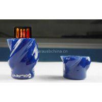Customized blue rose usb pendrive flower flash memory sticks 16GB UDP chips giveaways
