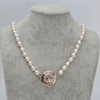 厂家直销批发供应5-6mm天然淡水珍珠项链 狮子款欧美风格珍珠首饰