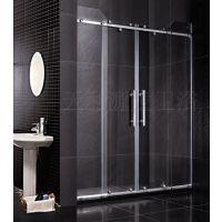 正宗佛山品牌淋浴房不锈钢两梗两活对开趟门