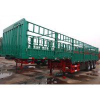 13米钢铝合金仓栅挂车 自重5吨 车体最轻 山东凯迪捷牌平板式牵引挂车