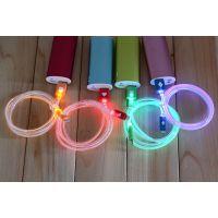 苹果5代IPHONE5/5S/5C爱心发光数据线1M充电线透明发光线荧光线