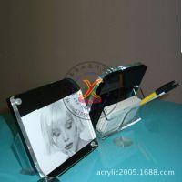 后附名片盒亚克力相框相架 有机玻璃一体定做定制