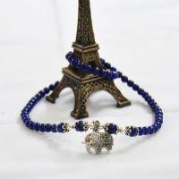 天然帝王青金石两圈多层手链 水晶饰品时尚女款 吉祥如意助事业