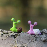 B037 植宠 微景观迷你可爱小蜗牛公仔摆件 苔藓多肉生态瓶DIY配件