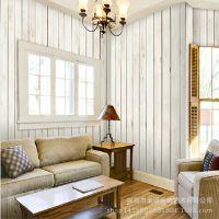 特价纯色壁纸 木纹客厅电视背景墙纸 田园墙布 木板大型家装壁画