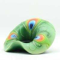 东南亚吉祥孔雀羽毛蜡烛台灯座创意家居客厅摆件树脂装饰工艺礼品