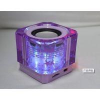 七彩光LED舞台灯插卡音箱低音炮播放器WS-662七彩灯旋转灯光