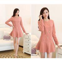 低价批发秋冬季韩版女装连衣裙童装卫衣套装货到付款