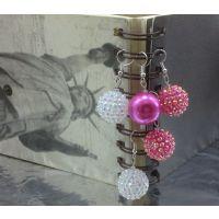 2015速卖通热卖饰品 20mm香巴拉钻球珠耳饰 耳坠 女款925纯银耳环