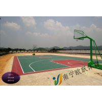 贺州丙烯酸篮球场材料 钟山体育专用地坪漆 篮球场价格