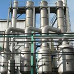 菏锅牌立式U形管式双效强制循环蒸发器 内循环型蒸发器