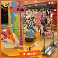 商场DP点橱窗展示道具定制玻璃钢高跟鞋雕塑