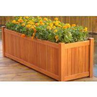 供应唐山户外木质花盆防腐木花箱品种全价格低质量有保障