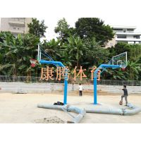 台州市一个篮球架多少钱 篮球架安装 康腾普通单臂移动式篮球架生产