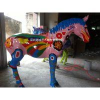 港城供应玻璃钢马雕塑 大型仿真动物树脂厂家