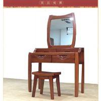 美希恩纯实木梳妆台 特价中式家具 高端金丝木梳妆柜