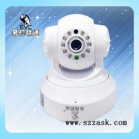 深圳网络监控摄像头生产厂家易视联通无线wifi监控摄像头手机远程720P插卡高清网络一体机批发