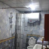 爱思卡达品牌加厚不锈钢U型浴帘杆,永不下垂U形/弧形浴室杆100*100*100cm