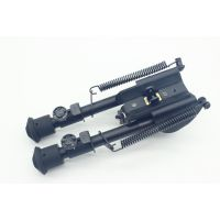 6寸制锁两脚架 伸缩两脚架 Harris弹簧折叠战术两脚架 CS战术两脚架