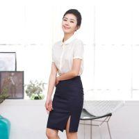 山东职业装定制女条纹修身收腰高端欧美气质衬衫西服连衣裙夏白领