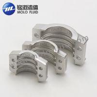 长期供应DN25*6两片式管夹 不锈钢管夹 两片式抱箍批发