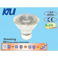 KJU-LEDGU10COB 有3.3W/5W/6W 全玻璃结构,环保节能