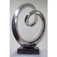 不锈钢圆圈雕塑摆件 优雅的不锈钢雕塑金属组合壁挂-酒店艺术品-不锈钢鱼群摆件-不锈钢装饰品-钢艺品