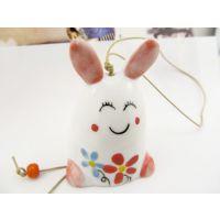 长耳兔陶瓷风铃  多啦梦幻兔子车挂 饰品挂件  汽车内饰装饰品