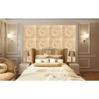 简约舒适床头背景墙 软包郑州大型壁画背景墙 定制厂家 品牌