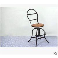餐厅复古铁艺咖啡椅 loft工业风金属椅子 美式乡村餐椅