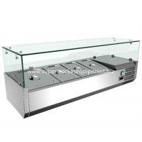 桌上型萨拉柜澜海玻璃展示不锈钢冷藏柜