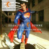 模型专家【上海升美】蝙蝠侠大战超人玻璃钢雕塑人物模型雕塑定制