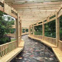 景观工程花架定做包安装,铁艺园林凉亭,防腐木阳台花架葡萄架
