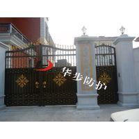 铝艺平移大门,别墅铝材走地大门
