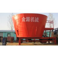 石家庄市金源机械有限公司宾利达9TMRL-8立式饲料制备机,牵引立式饲料制备机价格