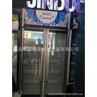 新款两门豪华型单边框展示柜/连锁便利店饮料冰柜/格瑞厂家批发