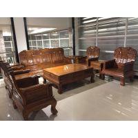 缅甸花梨象头如意古典实木沙发价格厂家_大古树家具