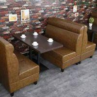 鑫兴DL-7211自由沙发卡座 咖啡厅餐厅沙发卡座 时尚皮质沙发卡座定制批发