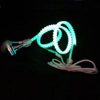 夜光耳机包邮耳机样品中心时尚荧光拉链线材厂家优势出货